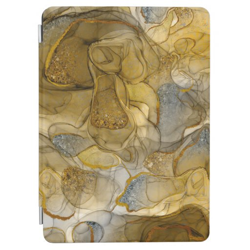 Yellow grey sparkle dream iPad air cover