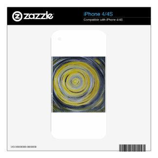 yellow grey white circles iPhone 4 decal