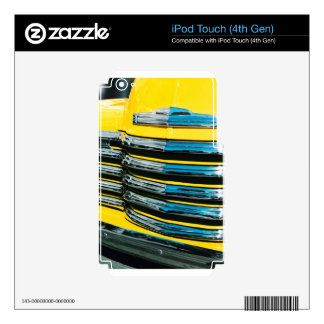 Yellow Grill iPod Touch 4G Decal