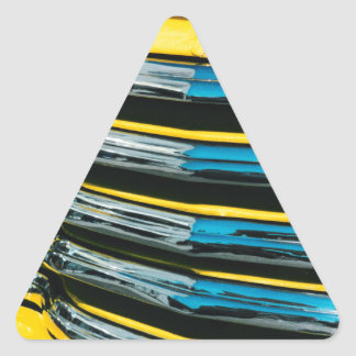 Yellow Grill Triangle Sticker