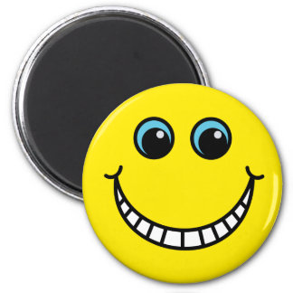 Yellow Grinning Smiley Face Magnet