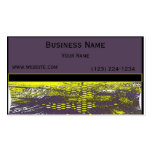 Yellow Grunge Abstract Business Card