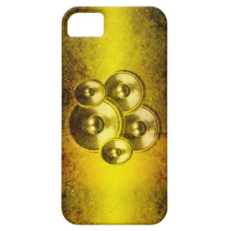 Yellow grunge music speakers iPhone 5 cases