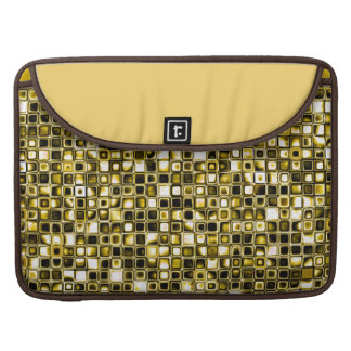Yellow Grunge Textured Grid Pattern Sleeves For MacBooks