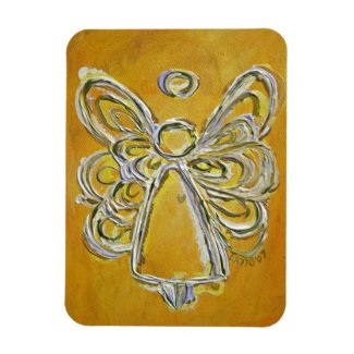 Yellow Guardian Angel Custom Magnet Art Painting