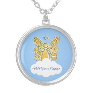 Yellow Guardian Angel Series Cloud Custom Necklace
