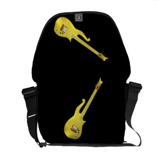 Yellow Guitar from Famous Artist Rickshaw Messenge Courier Bag