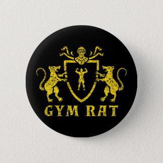 Yellow Gym Rat Button