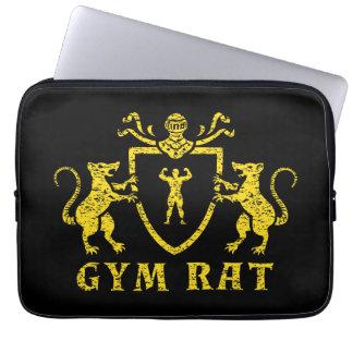 Yellow Gym Rat Neoprene 13 inch Laptop Sleeve