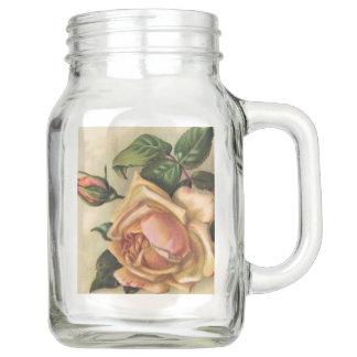 Yellow Gypsy Rose Gypsy Collection Mason Jar