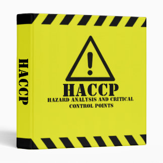 Yellow HACCP 3 Ring Binder