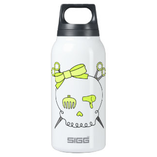 Yellow Hair Accessory Skull -Scissor Crossbones Insulated Water Bottle