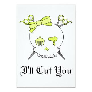 Yellow Hair Accessory Skull -Scissor Crossbones Invite