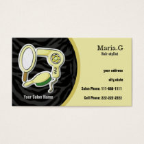 yellow Hair Salon cards with appointment on back