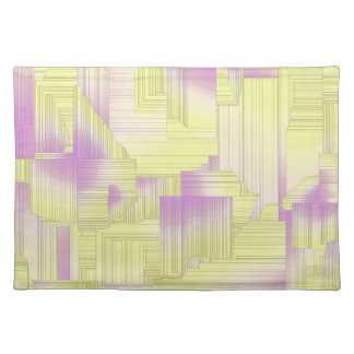 Yellow Halls Abstract Patel Design Cloth Placemat