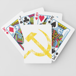 Yellow Hammer Sickle Bicycle Playing Cards