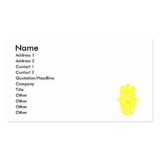 Yellow Hamsa-Hand of Miriam-Hand of Fatima.png Double-Sided Standard Business Cards (Pack Of 100)