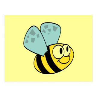 Yellow Happy Bee Tshirts and Gifts Postcard