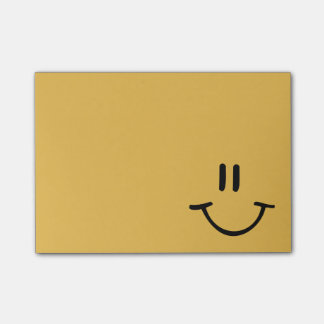 Yellow Happy Face Post-it Notes