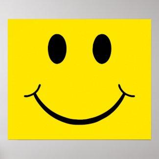 Yellow Happy Face zazzle_print