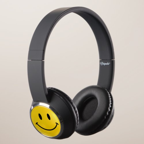 Yellow Happy Headphones