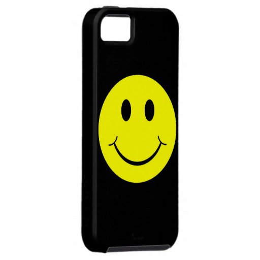 Yellow Happy Smiley Face iPhone 5 Case iPhone 5/5S Cases