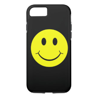 Yellow Happy Smiley Face iPhone 7 case
