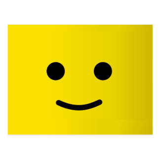 Yellow Happy Smiley Face Postcard