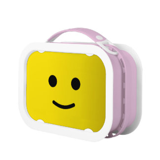 Yellow Happy Smiley Face Yubo Lunch Box