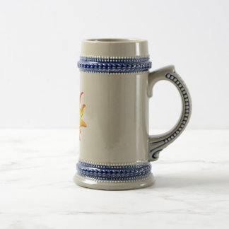 Yellow happy sun smiley face 18 oz beer stein