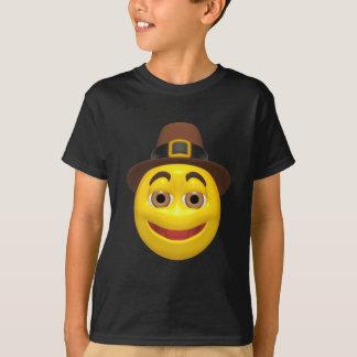 Yellow happy thanksgiving pilgram T-Shirt