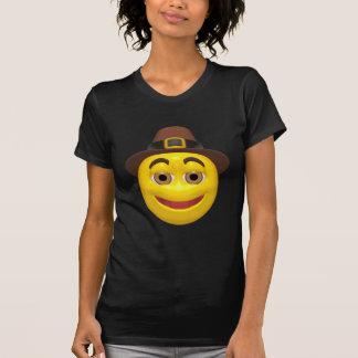 Yellow happy thanksgiving pilgram shirt
