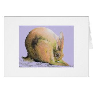 yellow hare card
