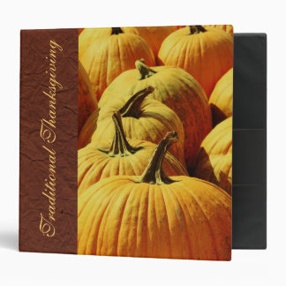 Yellow harvest pumpkins - traditional Thanksgiving Binder