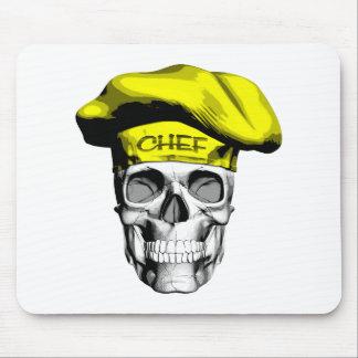 Yellow Hat Chef Skull Mousepad