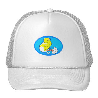 yellow hatching chicks blue oval.png trucker hat
