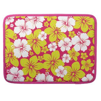 Yellow Hawaii Flowers Design MacBook Pro Sleeve