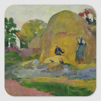 Yellow Haystacks, or Golden Harvest, 1889 Square Sticker