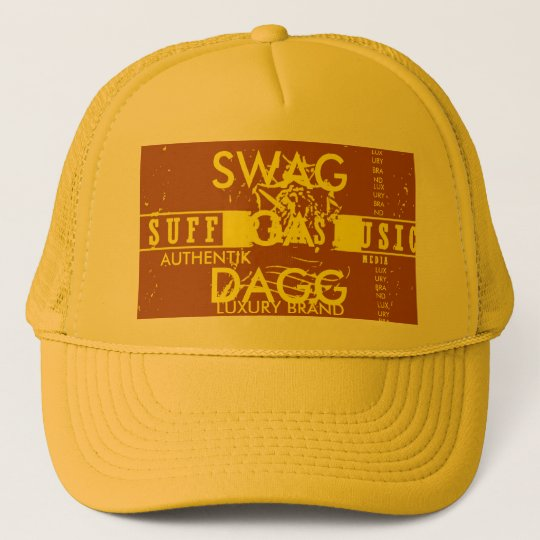yellow hazeSWAGGA DAGGA!, LUXURY BRAND Trucker Hat