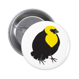 Yellow-headed Blackbird 2 Inch Round Button