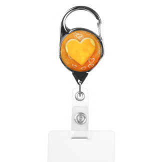 Yellow Heart Badge Holder