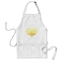 Yellow Heart Beach Wedding Adult Apron