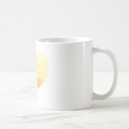 Yellow Heart Beach Wedding Coffee Mug