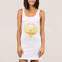 Yellow Heart Beach Wedding Sleeveless Dress