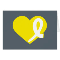 Yellow Heart Bladder Cancer card