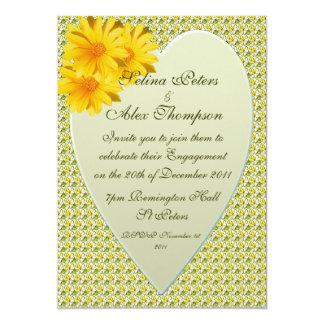 Yellow Heart Engagement Invitation
