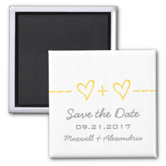 Yellow Heart Equation Save the Date Magnet
