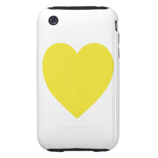 Yellow Heart iPhone 3G/3GS Case-Mate Tough Tough iPhone 3 Covers
