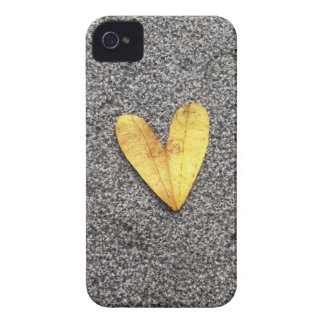 Yellow Heart Leaf iPhone 4 Covers