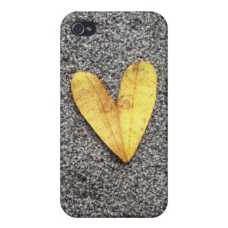Yellow Heart Leaf Covers For iPhone 4